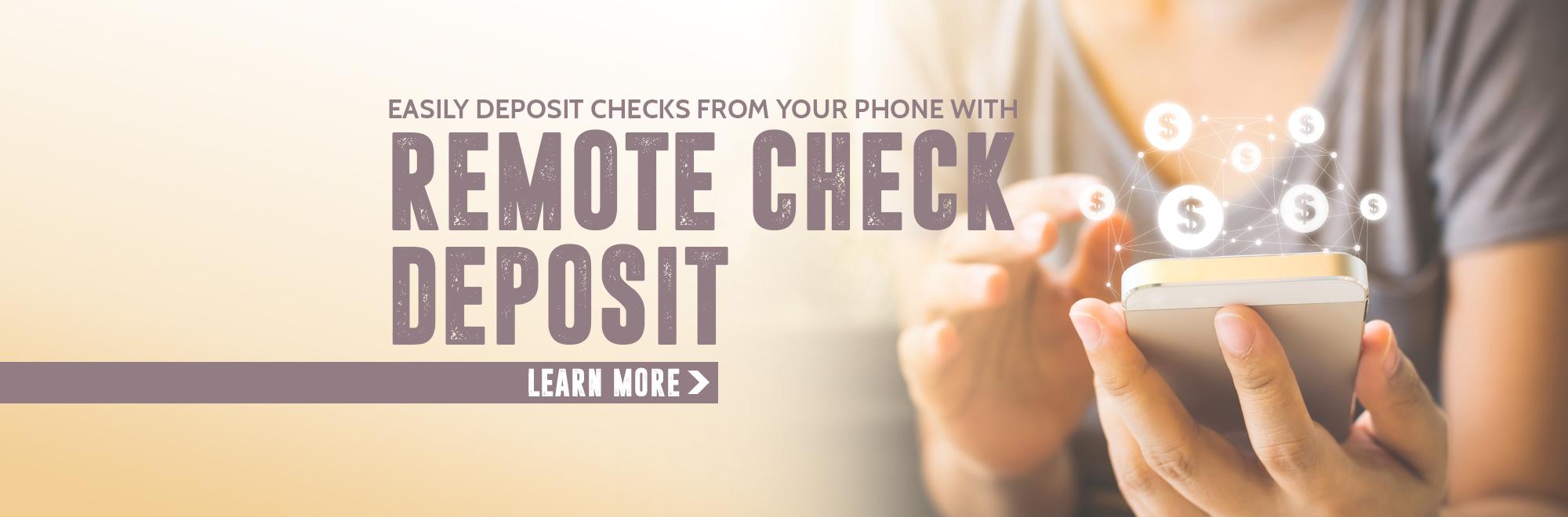 Remote Check Deposit Banner